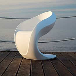 Internal or External Design Armchair in White Polyethylene - Petra by Myyour