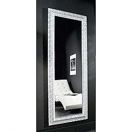 Modern gold / silver wall mirror in wood, produced in Italy, Teodoro