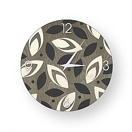 Filago colored wall clock made of wood, produced 100 % in Italy