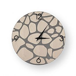 Modern wall clock made of wood Morolo, produced 100 % in Italy