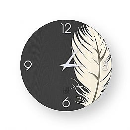 Modern design wall clock made of wood Pico, produced in Italy