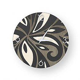 Modern design wall clock made of wood Zane, produced in Italy