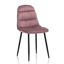 Dining Room Chair in Pink, Gray or Aquamarine Velvet, 4 Pieces - Ciga