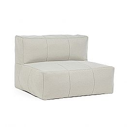 Outdoor Armchair Upholstered in Removable Fabric, Homemotion - Lydia