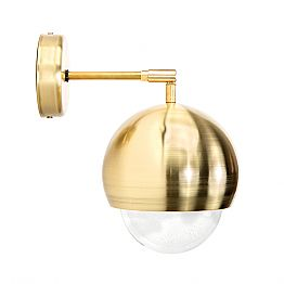 Wall Lamp in Brushed Brass and Handmade Glass Made in Italy - Gandia