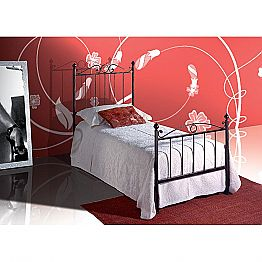 Wrought-iron single bed Fauno