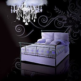 Wrought-iron small double bed Perseo