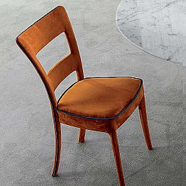 Bonaldo Sheryl chair in modern design upholstered fabric made in Italy