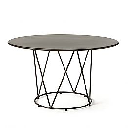 Round Modern Outdoor Table in Painted Metal Made in Italy - Ibra